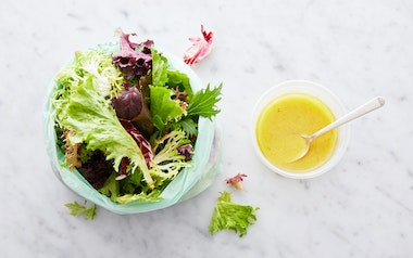Pre-Washed Salad Greens with Meyer Lemon Vinaigrette