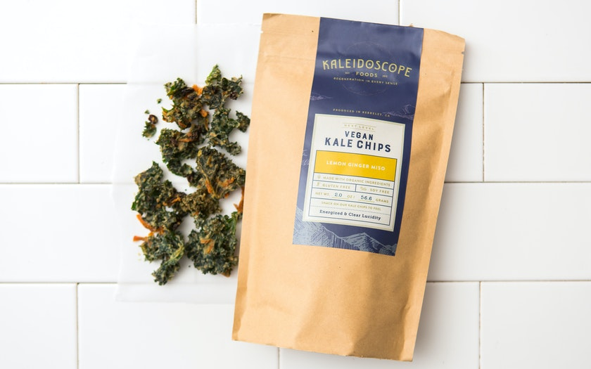 Lemon Miso Ginger Kale Chips