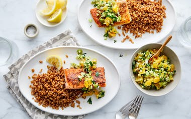 Seared Salmon with Fennel & Oranges