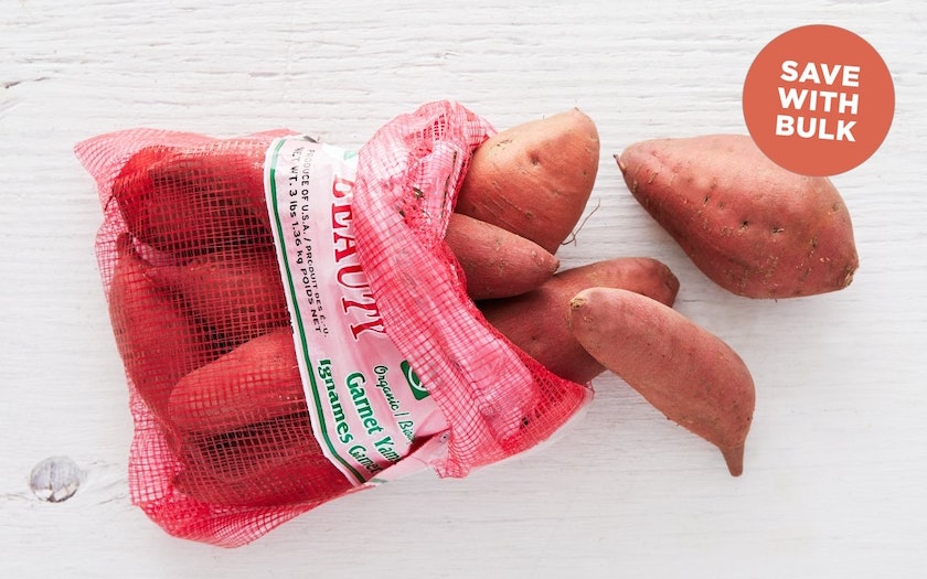 Bulk Organic Garnet Sweet Potatoes