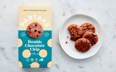 Vegan & Gluten-Free Double Chocolate Chip Cookies