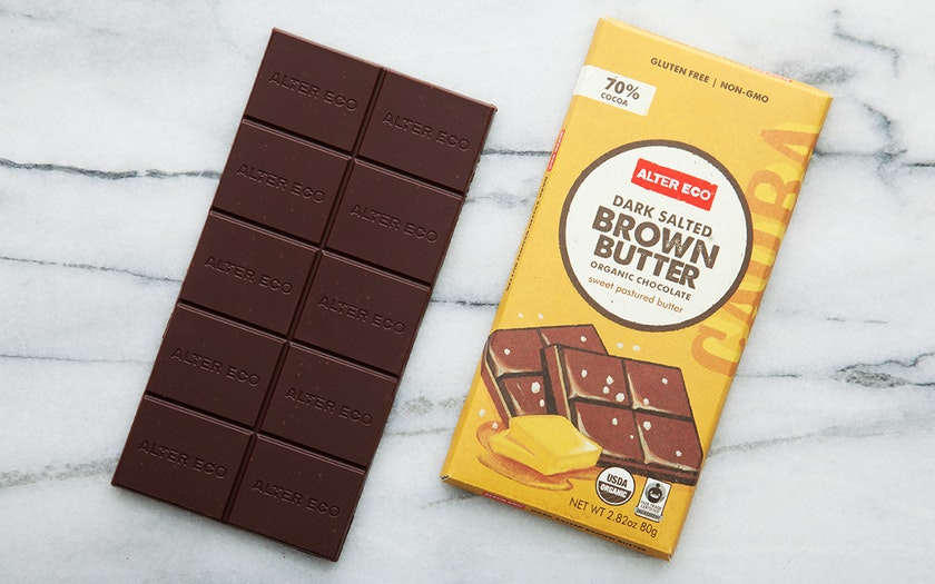 Organic Dark Salted Brown Butter Chocolate Bar (70%)