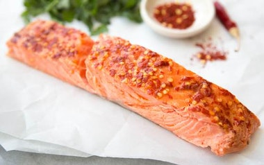 Spicy Hot Smoked Wild King Salmon