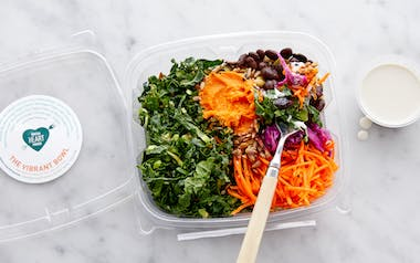 Superfood Grain Bowl with Housemade Kimchi & Tahini Sauce