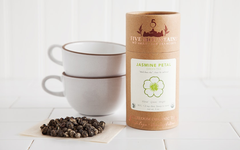 Organic Jasmine Petal Loose Green Tea