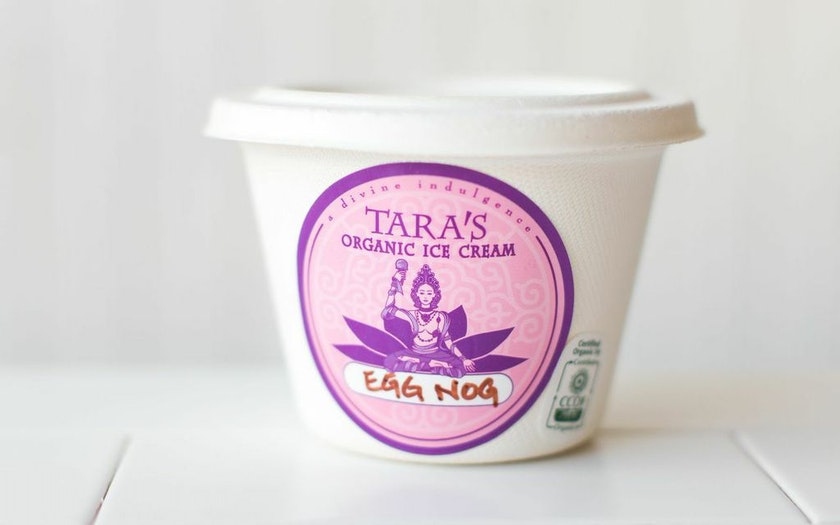 Organic Egg Nog Ice Cream