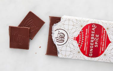 Organic Gingerbread Spice Milk Chocolate Bar
