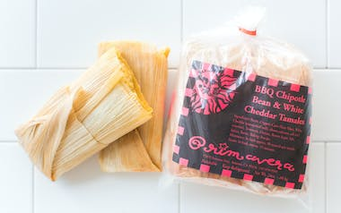 BBQ Chipotle Bean & Cheddar Tamales