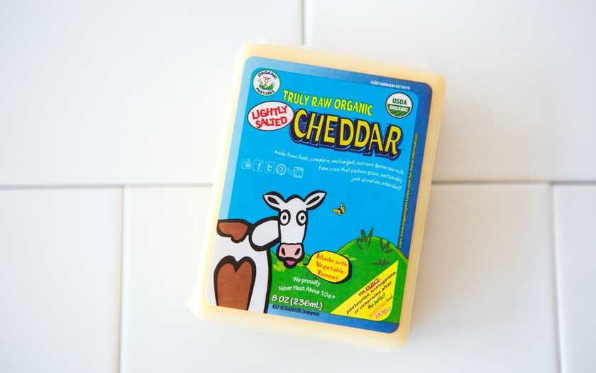 Organic Truly Raw Milk Cheddar Cheese