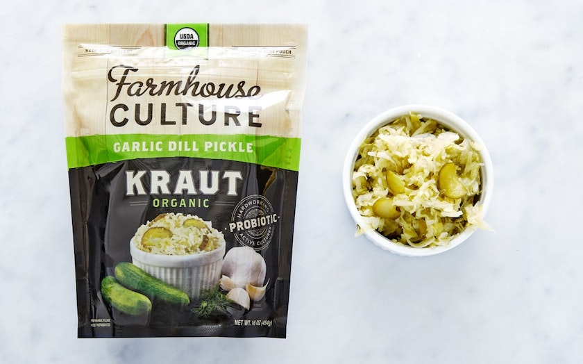 Organic Garlic Dill Pickle Kraut Farmhouse Culture SF Bay