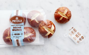 Soft Pretzel Mini Buns