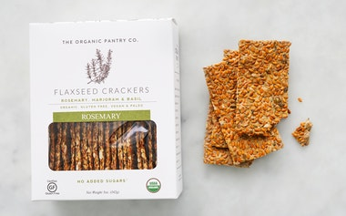 Organic Rosemary Flaxseed Crackers