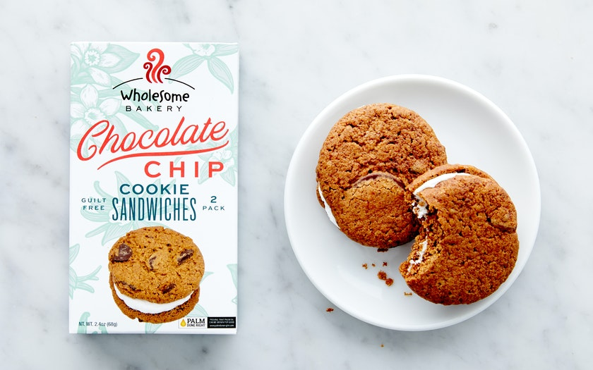 Vegan Chocolate Chip Cookie Sandwiches Wholesome