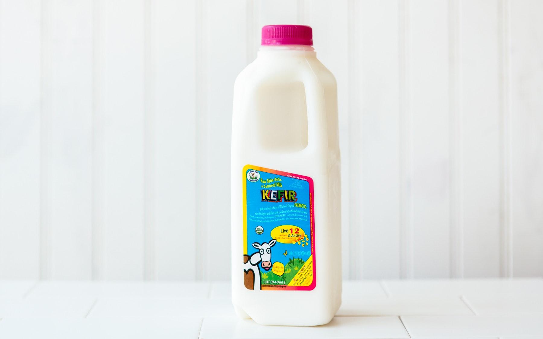 kefir milk. organic raw milk kefir