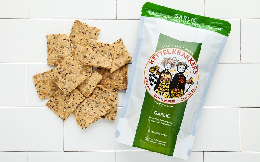 Organic Gluten-Free Garlic Crackers