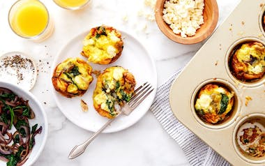 Frittata Muffins with Spinach & Feta