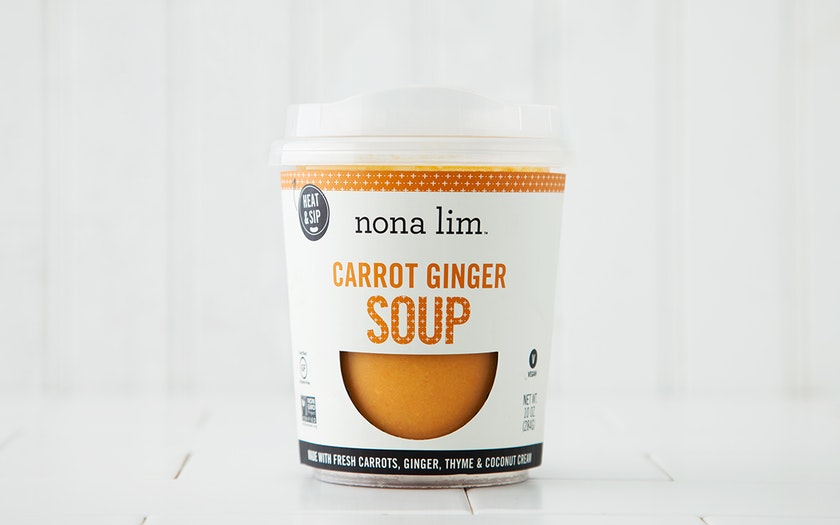 Carrot Ginger Soup Cup