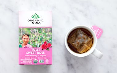 Organic Tulsi Sweet Rose Tea
