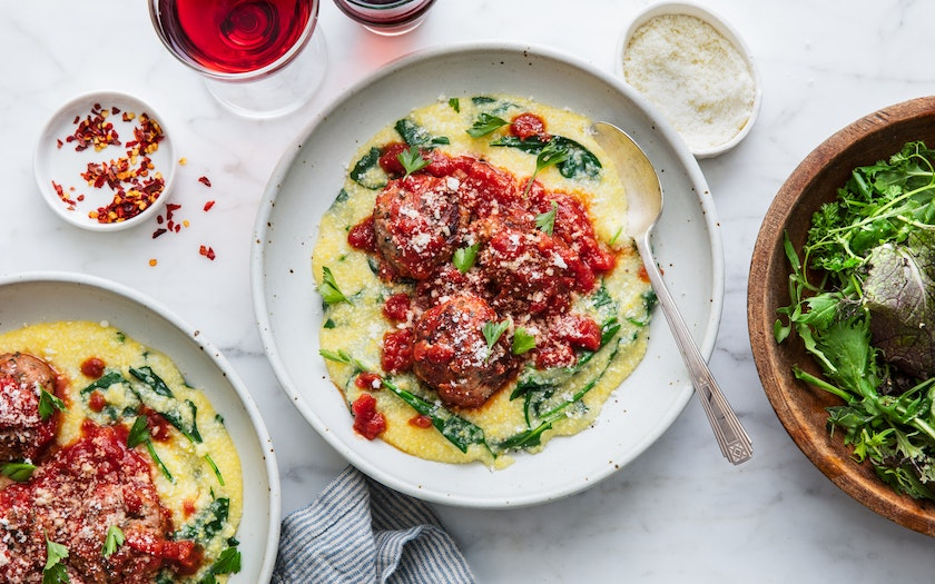 Meatballs with Polenta
