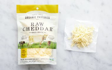 Organic Raw Shredded Cheddar