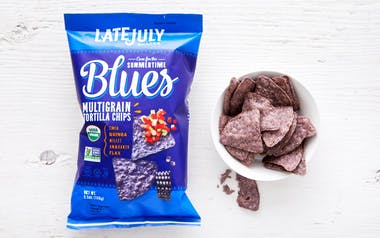 "Organic ""Summertime Blues"" Multigrain Tortilla Chips"