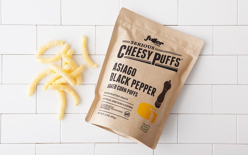Asiago Black Pepper Cheesy Puffs