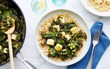 Fresh Saag with Feta Cheese
