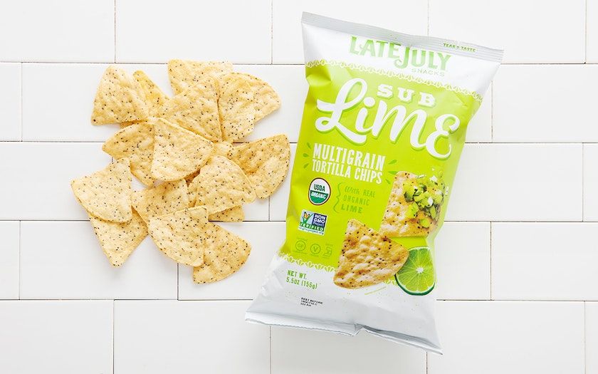 "Organic ""Sub Lime"" Multigrain Tortilla Chips"