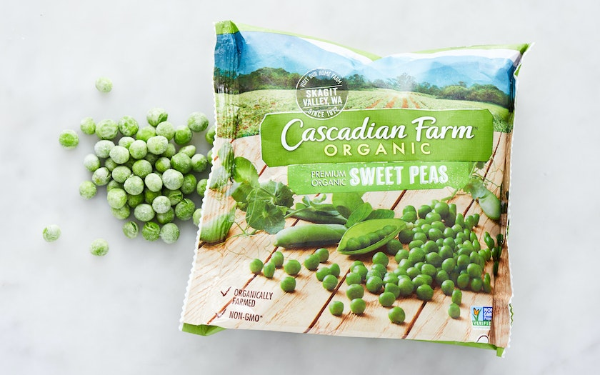 Organic Frozen Sweet Peas Cascadian Farm Sf Bay Good