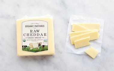 Organic Raw Cheddar Cheese