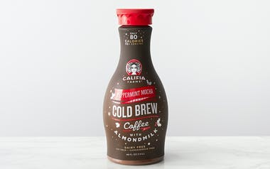 Peppermint Mocha Cold Brew Coffee with Almond Milk
