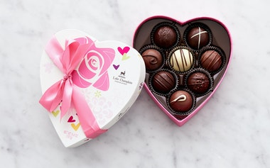 Traditional Heart Truffle Box